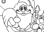 Coloriage Sapin de No�l P�re No�l