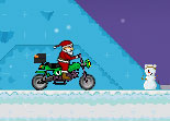 Moto de Neige P�re No�l