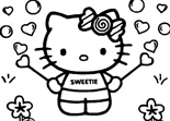 Hello Kitty Petit Coloriage