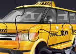 Taxi Monster Truck Puzzle